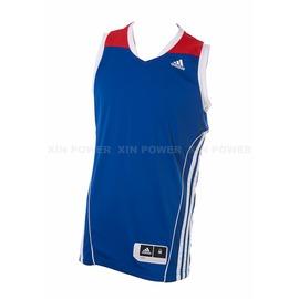 Adidas~  男款排汗 籃球背心-藍/白/紅 (G78190)