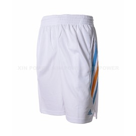 Adidas~  男款排汗 籃球短褲-白 (D83179)