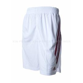 Adidas~  男款排汗 籃球短褲-白/紅 (D83177)
