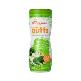 Happy Puffs 有機嬰兒蔬果牙餅^(蘋果 花椰菜^)
