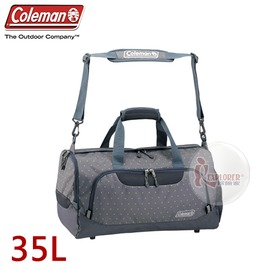 探險家戶外用品㊣CM-D401JMOGD 美國Coleman BOSTON旅行袋-35L (圓點灰) 行李袋 單肩背包袋 旅遊袋 手提袋
