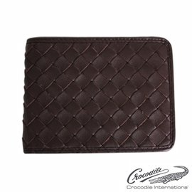 ~Crocodile 鱷魚~ Knitting系列短夾10卡義大利 真皮 0103~600