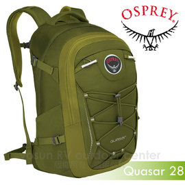 【美國 OSPREY】新款 Quasar 28L 超輕多功能城市休閒筆電背包(TSA+爆音哨+可拆腰帶)/適登山健行.旅遊通勤.自助旅行_開心綠 R