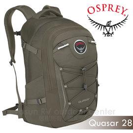 【美國 OSPREY】新款 Quasar 28L 超輕多功能城市休閒筆電背包(TSA+爆音哨+可拆腰帶)/適登山健行.旅遊通勤.自助旅行_荒漠褐 R