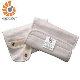 『BA06-3』【總代理公司貨】美國 Ergo Baby ergobaby Teething Pad 爾哥寶寶背巾用 嬰幼兒吸吮墊/口水巾(100%純棉棉材質)有機款米白