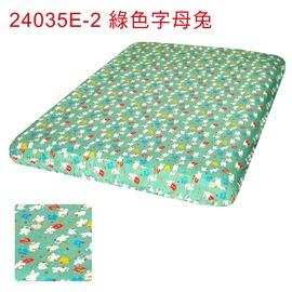 探險家戶外用品㊣24035E-2 綠底字母兔床包(S) 適露營達人充氣床墊 GP17617M 188x135cm