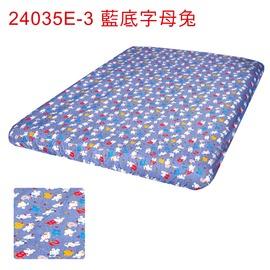 探險家戶外用品㊣24035E~3 藍底字母兔床包^(S^) 適露營 充氣床墊 GP1761