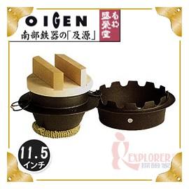 探險家戶外用品㊣F-401 日本製盛榮堂 南部鐵器 11.5吋經典日式炊飯鍋 五合炊 附木蓋 鑄鐵鍋