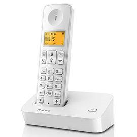 幸福家电馆~【免运费】飞利浦 无线电话-银白系~(D2001W)