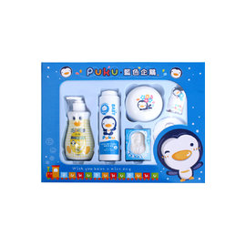 PUKU藍色企鵝-沐浴保養禮盒E