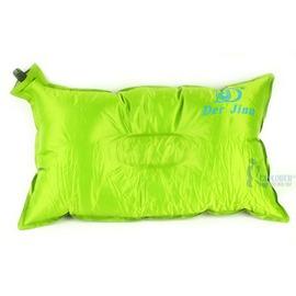 探險家戶外用品㊣DJ7603自動充氣枕頭/充氣睡枕 (附收納袋) 人體工學不易滑動 (凹槽款)