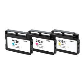 HP相容墨水匣CN054AA藍色CN055AA紅色CN056AA黃色^(NO.933 XL