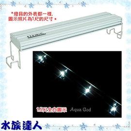 【水族達人】海薩 HEXA《450 大亮點 LED燈 (5W*4) 1.5尺/全白》45cm 跨燈 41~49cm魚缸適用