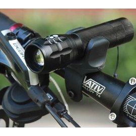 (手推式-可調強弱) 自行車/單車/ 腳踏車前燈 夜騎 LED強光前燈/調焦手電筒 (可伸縮) **附支架**