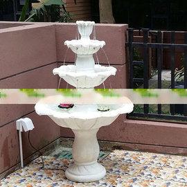 5Cgo ~ 七天交貨~ 39054559827 歐式多層三層流水藝術噴泉 花園別墅酒店影