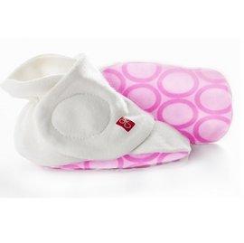 【紫貝殼】『PNA03-4』美國 guavakids 寶寶防掉落腳套-粉色泡泡S/M ellipse (pink)