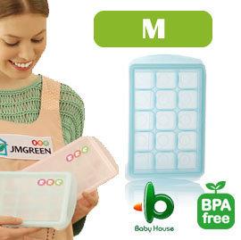 【紫貝殼】『JA11』韓國製 JMGreen 新鮮凍RRE副食品冷凍儲存分裝盒 Mediu-中(顏色隨機)
