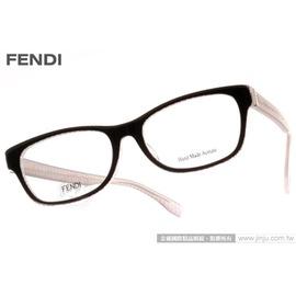 FENDI 光學眼鏡 FS1001J 7PH ^(咖啡紅^) 藝術風味 簡約款 平光鏡框