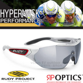 【義大利 Rudy Project】Hypermask Performance-RP OPTICS 專業抗紫外線鍍銀運動眼鏡.太陽眼鏡.自行車風鏡/SP220911 亮銀框+黑色鍍銀片