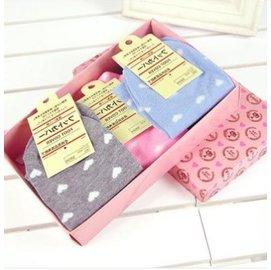 ~可愛 薄款 糖果色淺口隱形襪子 愛心船襪5雙 裝