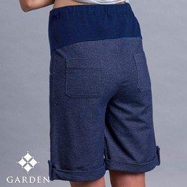 ~逛花園~帥氣孕婦褲~牛仔藍