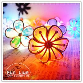 【Q禮品】A2177 黏貼式花朵LED燈/小花七彩LED燈/小夜燈/情境燈/居家活動裝飾/吸盤燈/壁燈