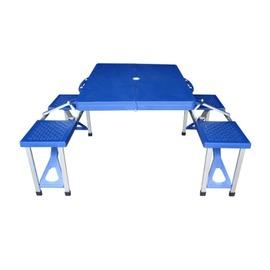 探險家戶外用品㊣DJ6731 野餐桌椅組85x67cm 折合桌摺疊桌折疊桌休閒桌椅組一桌四椅