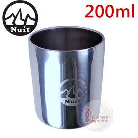 探險家戶外用品㊣NT0301 努特NUIT 18-8不銹鋼杯(小)-200ml 雙層隔熱杯 304不鏽鋼杯 兒童小鋼杯 餐具 廚具