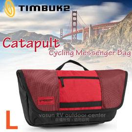 【美國 TIMBUK2】新款 Catapult 輕巧郵差包(L,7L).筆電背包.多功能手提袋.信使包.書包.側背包.機車包 /744-6-6061 紅/黑