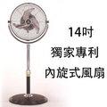【預購 5/20號後出貨】KZS-142A  中央牌 金牌獎節能內旋風扇-14  360度內旋式循環立扇