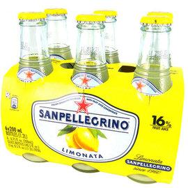 S.Pellegrino 聖沛黎洛氣泡水果飲料~萊姆口味  200mlx6瓶