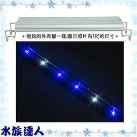 【水族達人】伊士達ISTA《可麗 600 LED伸縮跨燈2尺(4藍2白燈)》藍白/60cm/LED燈