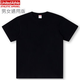 ~ 玩T空間~United Athle 6.2oz 水洗純棉短袖T~shirt ^(黑色