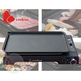 探險家戶外用品㊣COWG~6300 COOKOO瓦斯爐烤盤 傾斜式瀝油烤盤 不沾鍋燒烤盤