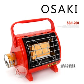 探險家戶外用品㊣SGH-200 OSAKI多用途卡式瓦斯暖爐 電子點火 (紅色) 行動戶外暖爐瓦斯電暖器武陵必備