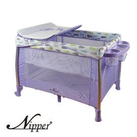 Nipper豪華雙層遊戲床(紫),贈:黃色小鴨隨手包濕巾*1