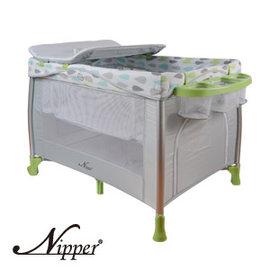 Nipper豪華雙層遊戲床(綠),贈:黃色小鴨隨手包濕巾*1
