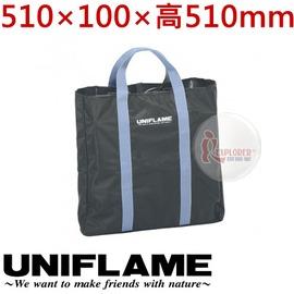 探險家戶外用品㊣683194 日本 UNIFLAME 焚火台收納袋 (大/黑) 510*100*高510mm 裝備袋 攜型袋 爐具袋