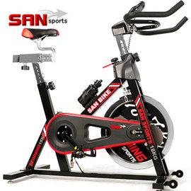 【SAN SPORTS】黑爵士18KG飛輪健身車C165-018 (4倍強度.18公斤飛輪車.室內腳踏車.推薦哪裡買另售磁控健身車.踏步機.電動跑步機)
