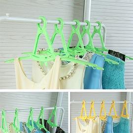 3C 晾曬折疊衣架 防滑無痕衣服掛5個裝 衣架 防風可折疊晾衣架多色(260005~05)