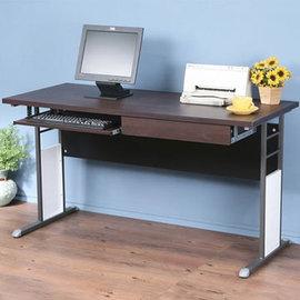 ~Homelike~巧思辦公桌~140cm加厚桌面~附抽屜 鍵盤架 工作桌 書桌 電腦桌^