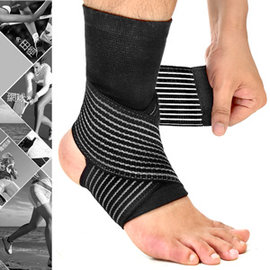 2in1雙重加壓纏繞式護腳踝D017-03綁帶繃帶護踝束帶束套.運動防護具.保暖腳踝套.跑步登山籃球自行車羽毛球網球足球排球田徑.推薦哪裡買