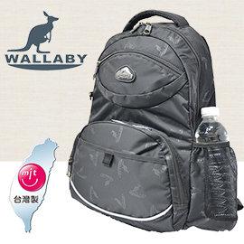 WALLABY袋鼠牌~logo款~超輕量背包  ~大容量 防波水 加厚抗震 減壓透氣背帶H