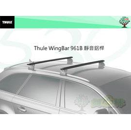 ^(舞山林^)Thule Wingbar 961B 靜音鋁桿^(118公分^)~黑色款 車