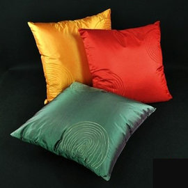 5Cgo ~ 七天交貨~21298608434 仿泰絲中式簡約機繡抱枕套 靠墊套 多色 方