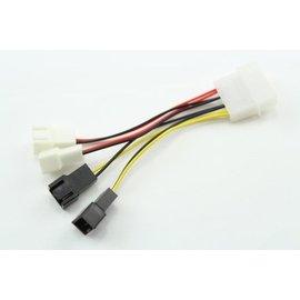 (風扇) 大4Pin(公)/3Pin(公) 1分4 電源擴充線/排線 (5V/12V各2組)