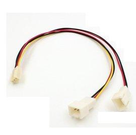 (風扇) 3Pin 1分2 1母轉2公(3針) 電源擴充線/電腦主機板排線