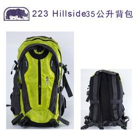 探險家戶外用品㊣223G 犀牛RHINO 35L登山背包(綠) 上課書包 自助旅行背包 後背包 附防雨罩