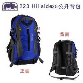 探險家戶外用品㊣223B 犀牛RHINO 35L登山背包(藍) 上課書包 自助旅行背包 後背包 附防雨罩