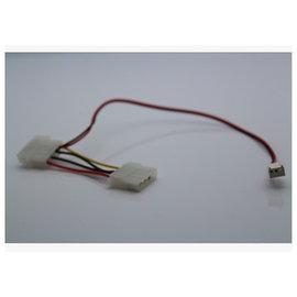 新竹市 大4Pin(1公1母)轉3Pin(母) 4P/3P 主機板電源線/power線/風扇線/排線